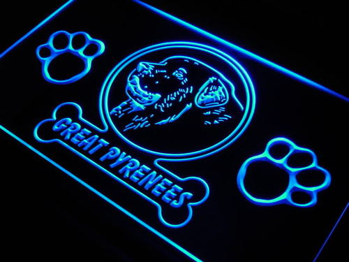 Great Pyrenees Dog Pet Shop Neon Light Sign