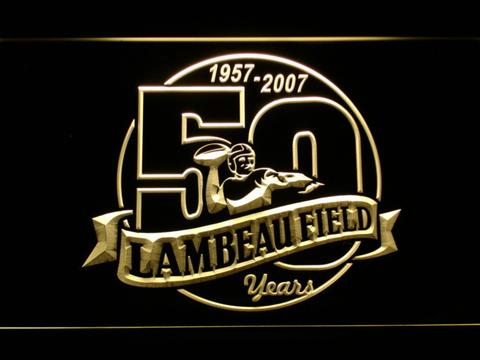 Green Bay Packers Lambeau Field 50th Anniversary LED Neon Sign