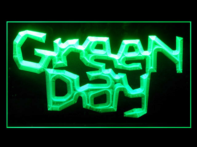 Green Day Music Rock Roll Display Led Light Sign