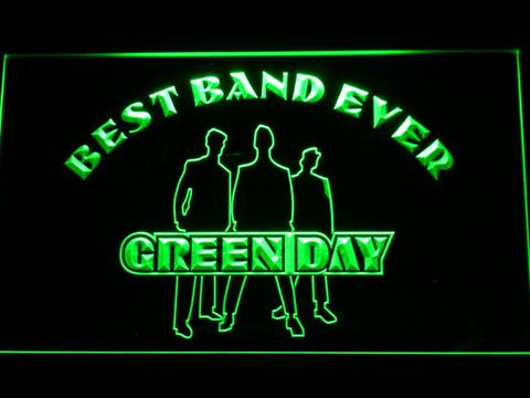 Green Day Silhouette Best Band Ever LED Neon Sign