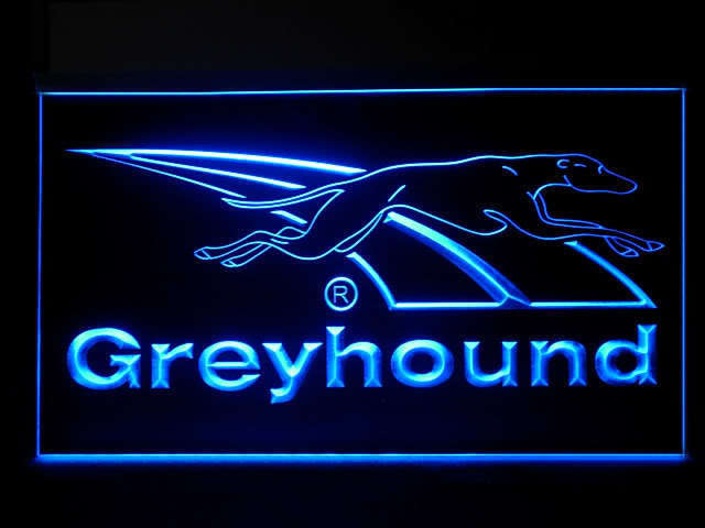Greyhound Dog LED Light Sign