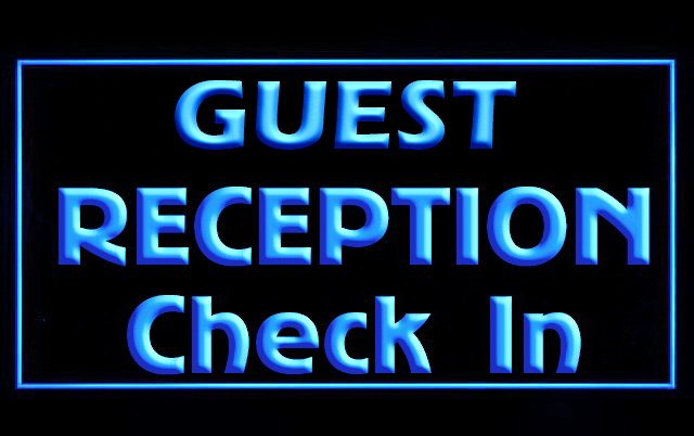 Guest Reception Check In LED Neon Light Sign