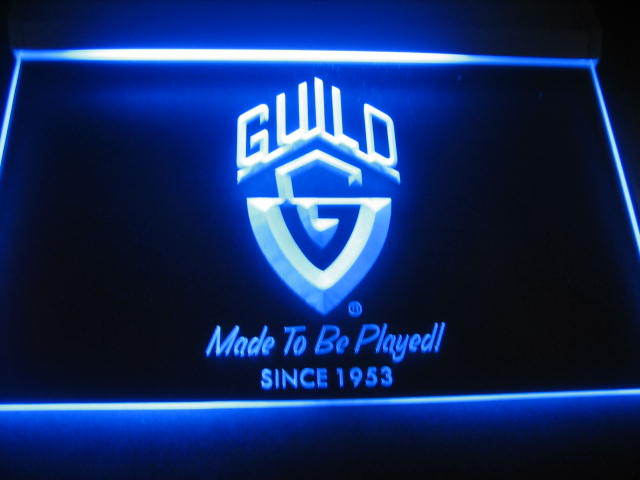 Guild Guitar Beer Bar Pub Store Light Sign Neon