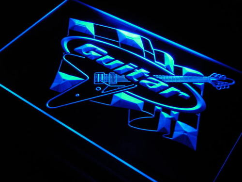 Guitar Racing Contest Display Neon Light Sign