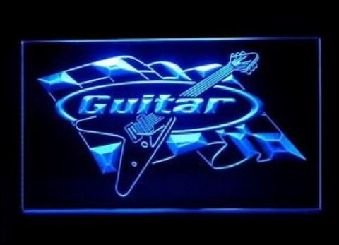 Guitar Racing LED Neon Sign