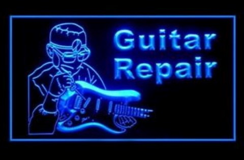 Guitar Repair Instrument Professional LED Neon Sign