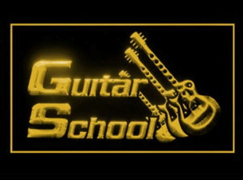 Guitar School LED Neon Sign