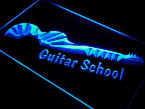 Guitar School Lesson Shop Lure Neon Light Sign