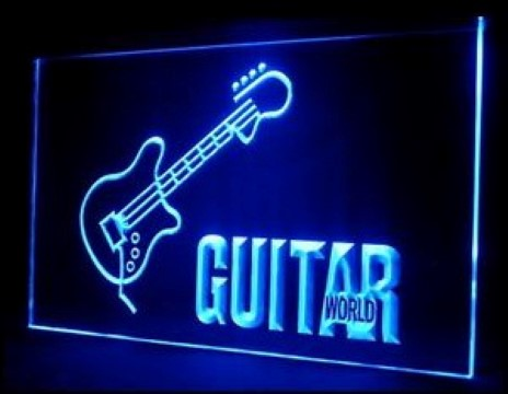 Guitar World LED Neon Sign