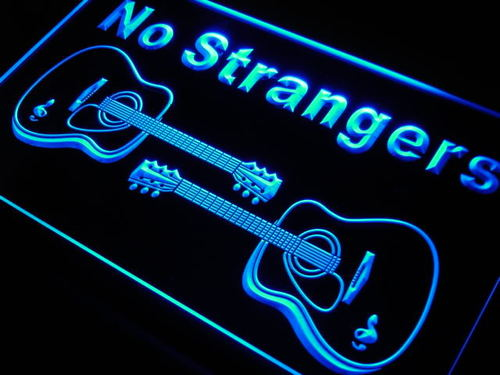 Guitars No Strangers Neon Light Sign