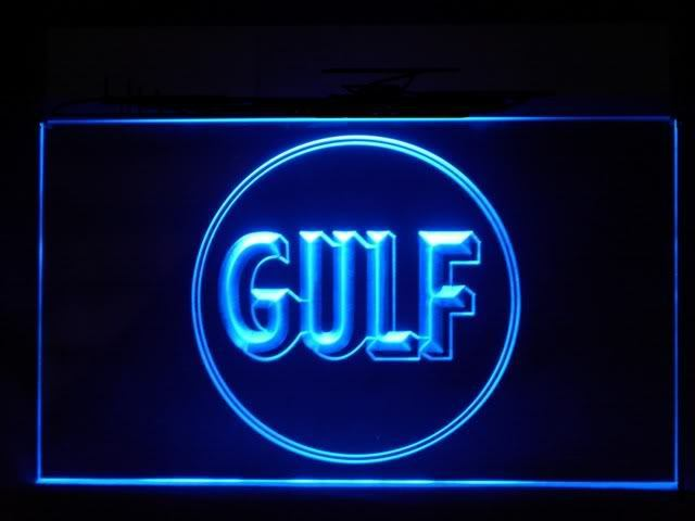 Gulf Gas Station LED Light Sign