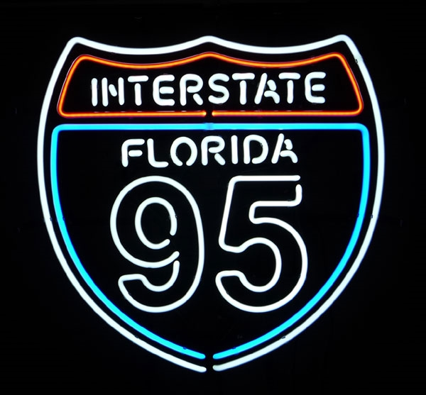 HISTORIC ROUTE 95 Highway Neon Sign 16 x 14