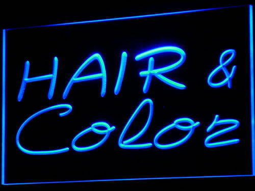 Hair & Color LED Light Sign