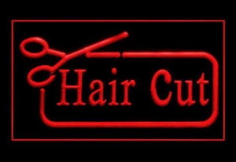 Hair Cut Scissor Smart Salon Hairdresser LED Neon Sign