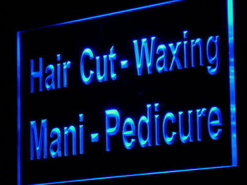 Hair Cut Waxing Mani Pedicure LED Sign