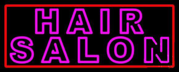 Hair Salon Border Neon Sign