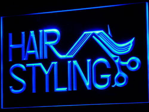 Hair Styling Salon Cut Shop Neon Light Sign