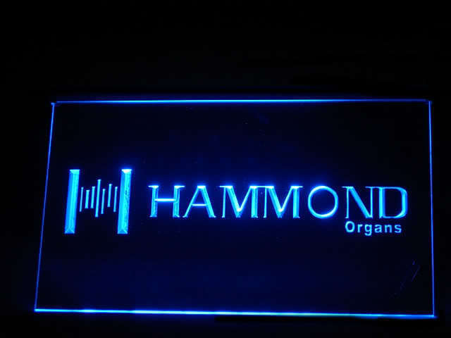 Hammond Organs Display Led Light Sign