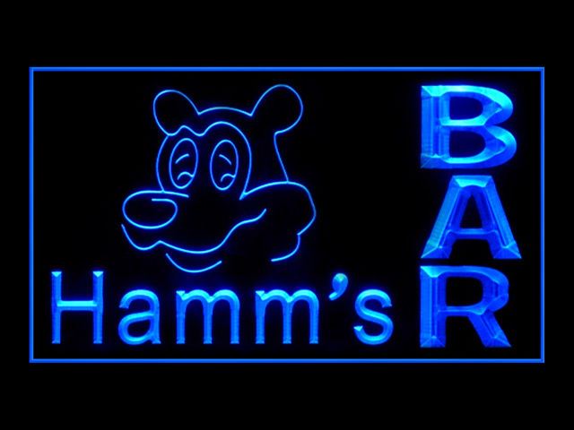Hamms Beer BAR Pub Store Neon Sign