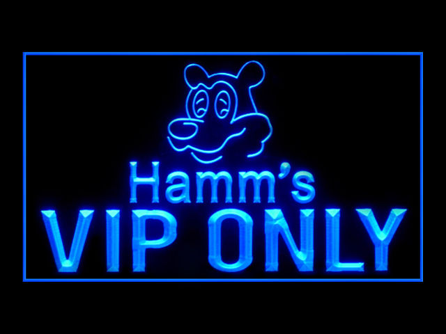 Hamms Beer VIP ONLY Pub Store Neon Sign
