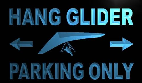Hang Glider Parking Only Neon Light Sign