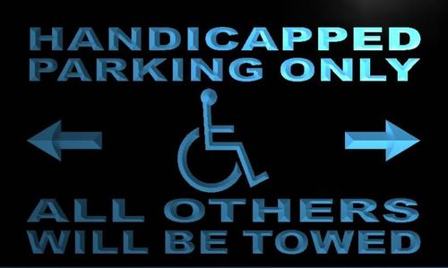 Handicapped Parking Only Neon Light Sign
