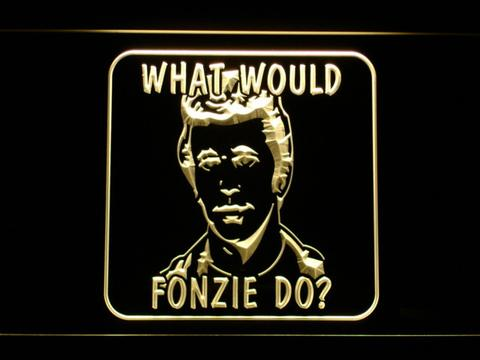 Happy Days What Would Fonzie Do LED Neon Sign