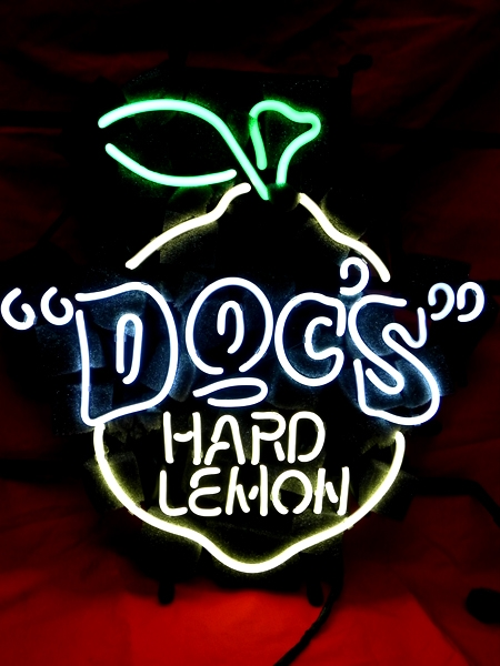 Hard Lemon Docs Bar Classic Neon Light Sign 17 x 13