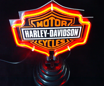 Harley Davidson Motor Cycles Neon Bar Mancave Sign