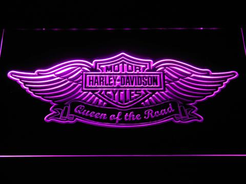 Harley Davidson Queen of the Road LED Neon Sign