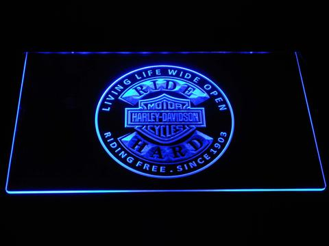 Harley Davidson Ride Hard LED Neon Sign