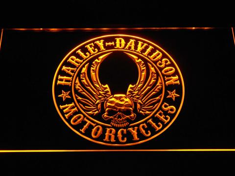 Harley Davidson Skull with Wings LED Neon Sign