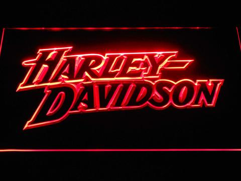 Harley Davidson Stylized Wordmark LED Neon Sign