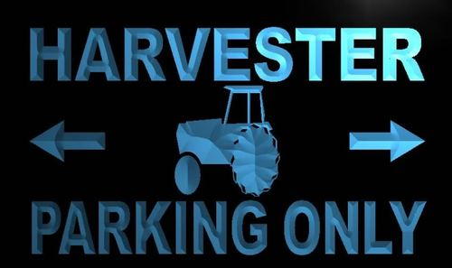 Harvester Parking Only Neon Light Sign