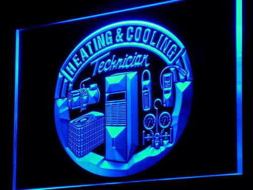 Heating & Cooling Technician New Neon Light Sign