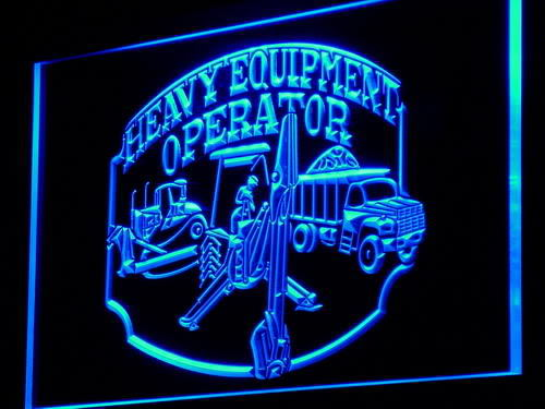 Heavy Equipment Operator Display Neon Light Sign