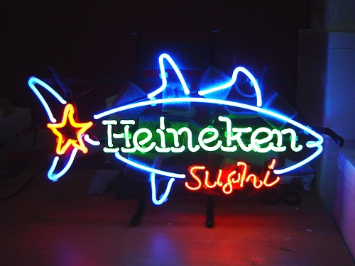 Heineken Sushi Shark Bar Beer Logo Neon Light Sign 16 x 11