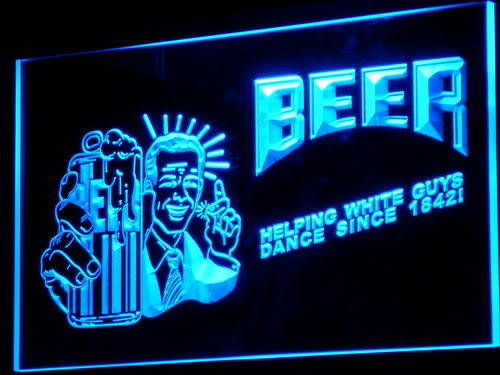 Helping White Guys Dance Beer Neon Light Sign