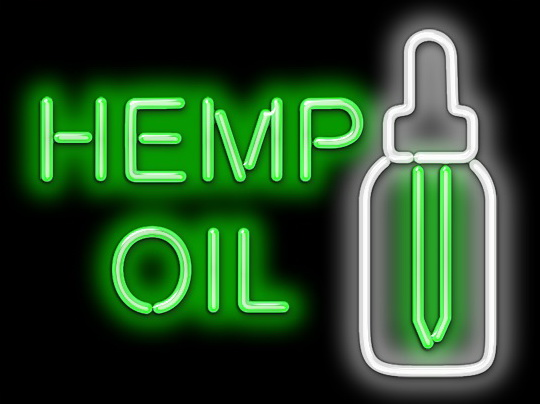 Hemp Oil Neon Sign