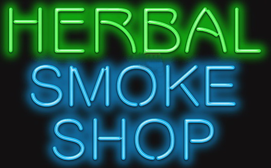 Herbal Smoke Shop Neon Sign