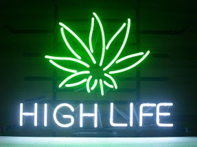 High Life Leaf Classic Neon Light Sign 17 x 14