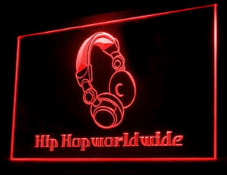 Hip Hop WorldWide LED Neon Sign