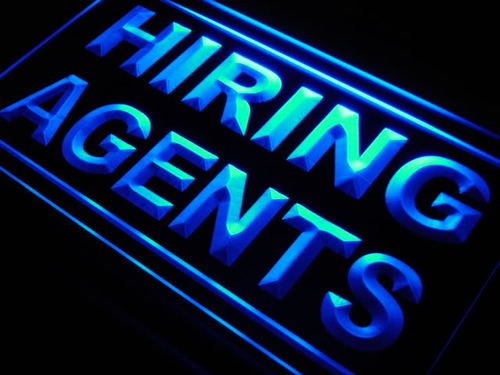 Hiring Agents Display Shop Lure Neon Light Sign