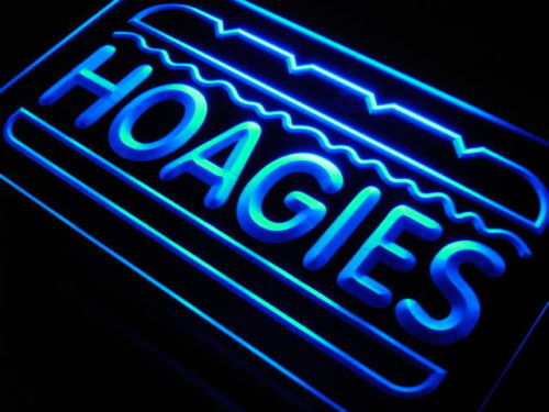 Hoagies Sandwich Cafe Food Neon Light Signs