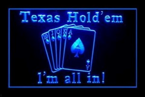 Hold Texas All In LED Neon Sign