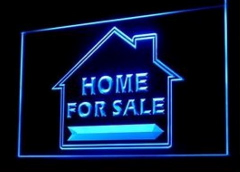 Home For Sale Real Estate LED Neon Sign