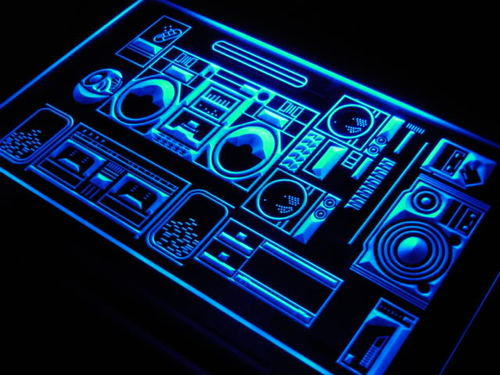 Home Theater Hi Fi System Shop Neon Light Sign