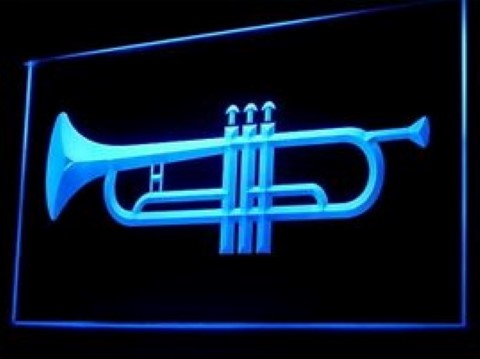 Horn Music Instrument Trumpet LED Neon Sign
