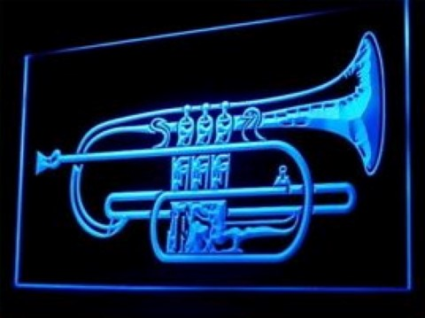Horn Music Lessons LED Neon Sign
