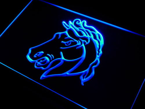 Horse Head Display Neon Light Sign